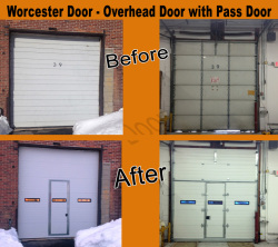 Overhead Garage Door with Pass Door