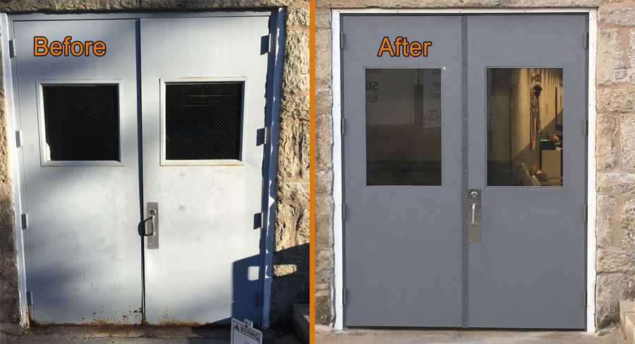 New install commercial grade high traffic doors in sutton for Commercial entry doors