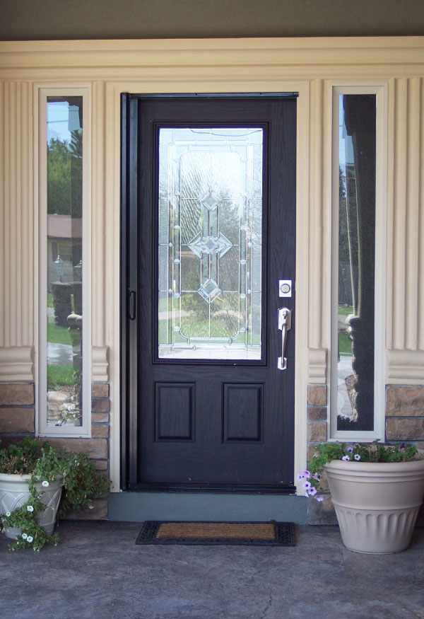 Front entry door screen worcester door company for Screened front entry